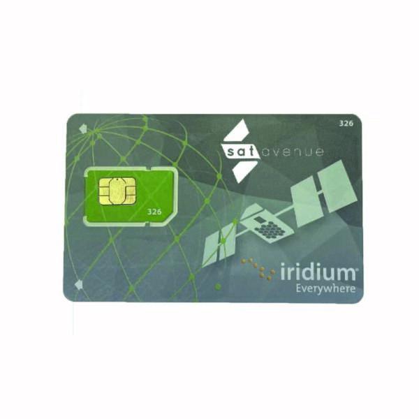 Carte SIM Iridium prépayée pour téléphones et modems satellite Iridium-Satavenue