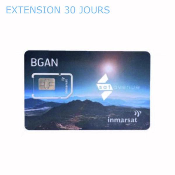 Extension 30 jours pour carte SIM Inmarsat BGAN-Satavenue