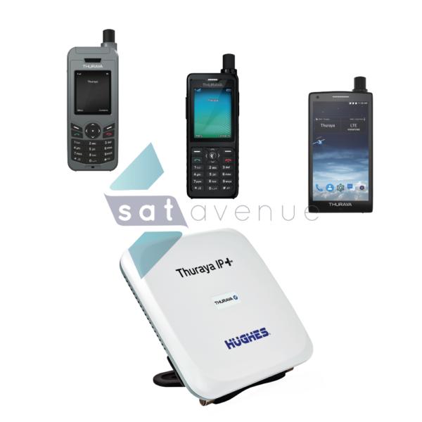 Communication pour téléphone satellite Thuraya XT Lite-XT Pro-X5 Touch et modem satellite Thuraya IP+-Satavenue