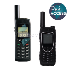 Communication pour téléphone satellite Iridium 9555-9575 avec logiciel de messagerie et de compression OptiACCESS-Satavenue