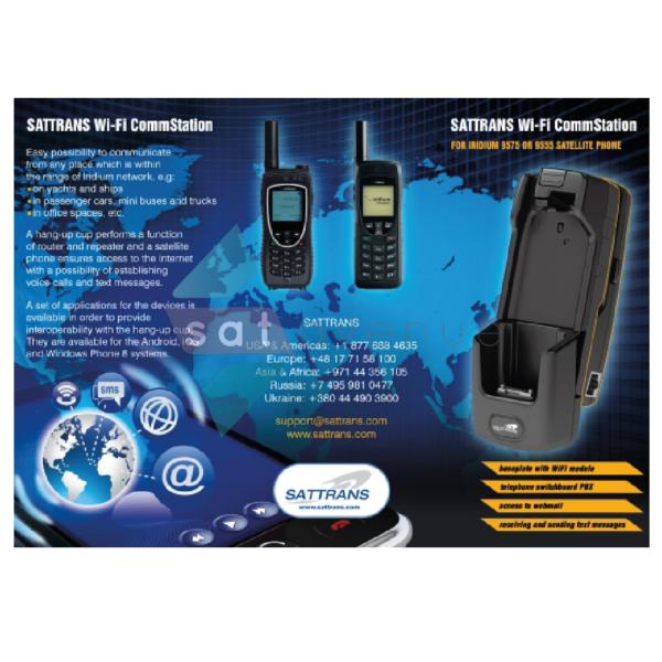 Sattrans WIFI Commstation pour téléphone satellite Iridium 9555-Satavenue