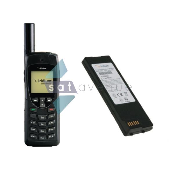 Téléphone satellite Iridium 9555 et sa batterie supplémentaire-Satavenue