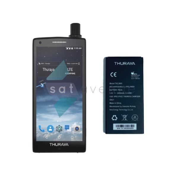 Téléphone satellite Thuraya X5-Touch et sa batterie supplémentaire-Satavenue