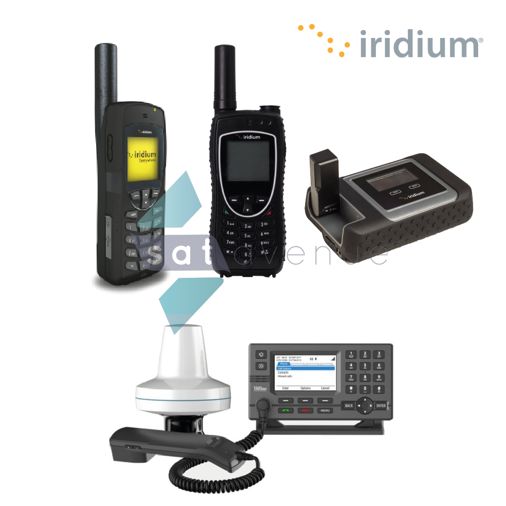 Pack communication Iridium pour les téléphones satellite Iridium 9555, Iridium 9575,  LT-3100 et le point d'accès WiFi Iridium GO!_Satavenue