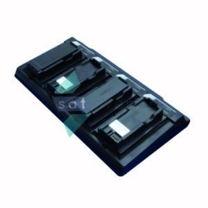 Station de charge de batterie pour téléphone satellite Iridium 9555 4 emplacements-Satavenue